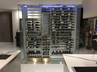 Millesime Wine Racks Modern Home Wine Cellar Wood Metallic/Silver