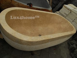 Wanna z marmuru - Marmurowa wanna do łazienki: styl , w kategorii  zaprojektowany przez Lux4home™