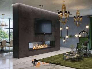 Частный коттедж - кухня, гостиная: Гостиная в . Автор – ЭлитДизайн - студия дизайна интерьера