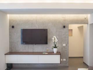 manuarino architettura design comunicazione Modern living room Concrete Grey