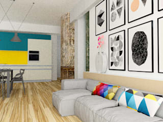 Modern living room by Fabiola Ferrarello architetto Modern