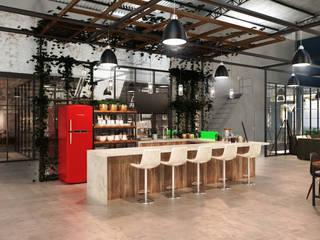Sede Comercial 01: Armários e bancadas de cozinha  por Entreponto Arquitetura