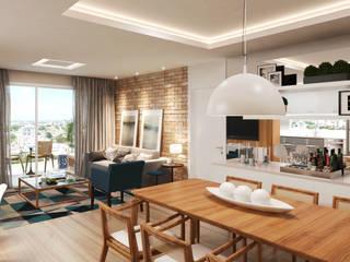 Apartamento 03: Salas de jantar  por Entreponto Arquitetura