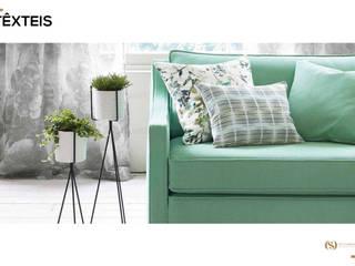 Têxteis: Salas de estar  por MY STUDIO HOME - Design de Interiores