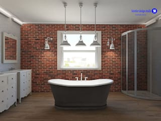 Banheiros industriais por 'Design studio S-8' Industrial