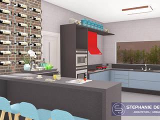 Projeto Residencia Unifamiliar Cozinhas modernas por Stephanie Delbaje Arquitetura e Interiores Moderno