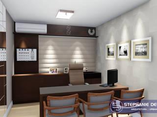 Projeto Interiores - Consultório Médico Oftalmologia Clínicas modernas por Stephanie Delbaje Arquitetura e Interiores Moderno