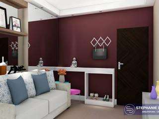 Projeto de Interiores - Studio Residencial Salas de estar modernas por Stephanie Delbaje Arquitetura e Interiores Moderno