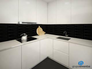 Grupo Inventia Cocinas equipadas Azulejos Negro