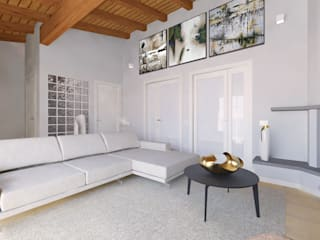 Modern living room by Flavia Benigni Architetto Modern