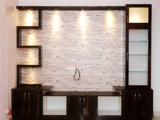 Ms. Shilpa Kondapur Site Modern living room by Ghar Ek Sapna Interiors Modern