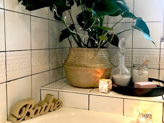 Budget Family Bathroom Makeover Design Baños de estilo rústico de Little Mill House Rústico
