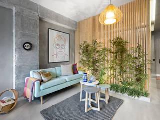 Phòng khách phong cách Bắc Âu bởi Egue y Seta Bắc Âu
