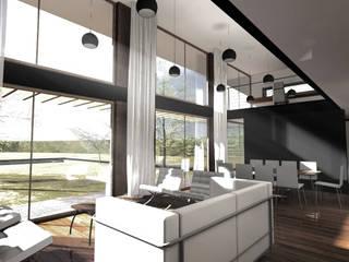 Casas unifamiliares de estilo  por proyecto arquitek