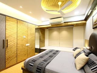 MR.KISHOR BHANUSHALI Modern style bedroom by PSQUAREDESIGNS Modern