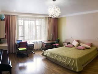 Детская комната для двух сестренок-двойняшек.:  в . Автор – Дизайн-студия интерьера и ландшафта 'Деметра'
