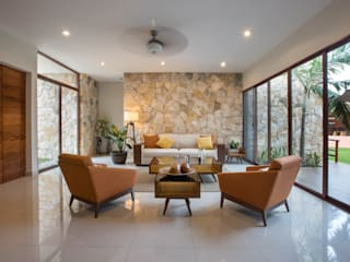 Living room by Heftye Arquitectura