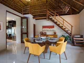 Comedor y Escalera Comedores modernos de Heftye Arquitectura Moderno Madera Acabado en madera