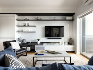 West Leederville Apartment Project Moda Interiors Salas de estar modernas Multicolor