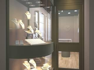 Nunu Yapı Mimarlık  – Gümüş Mağazası - Vitrin:  tarz Ofisler ve Mağazalar