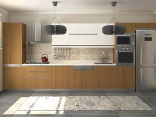 Nunu Yapı Mimarlık  – Meşe * Beyaz Mutfak :  tarz Ankastre mutfaklar