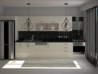 Nunu Yapı Mimarlık  – Krem Akrilik Mutfak :  tarz Ankastre mutfaklar