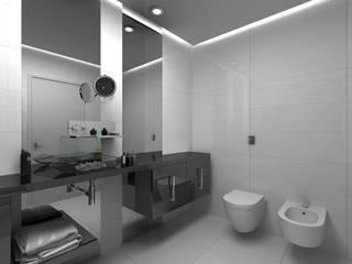 Grupo DH arquitetura BathroomDecoration Grey