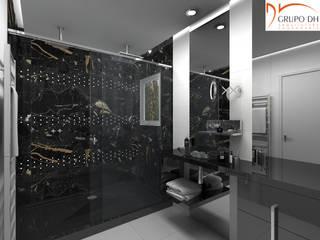 Grupo DH arquitetura BathroomBathtubs & showers Black