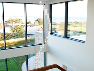 Family Home in Swanage, Dorset David James Architects & Partners Ltd Schody
