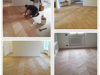 Soloparquet Srl Classic style living room Wood