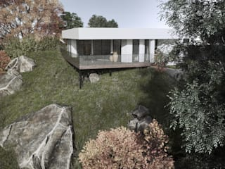 HOUSE BY THE RIVER by Tobi Architects Мінімалістичний