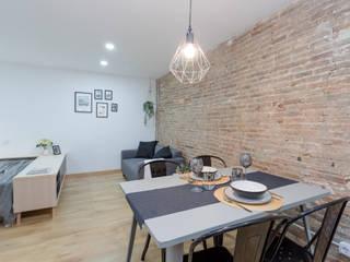 Moderno y acogedor - Interiorismo y Home Staging en Barcelona Dekohuset Comedores de estilo escandinavo