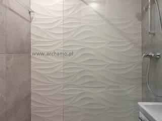 Projekt aranzacji wnetrza łazienki wraz z kompleksowym wykonawstwem: styl , w kategorii Łazienka zaprojektowany przez ARCHAMO architektura