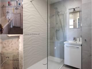 Projekt aranzacji wnetrza łazienki wraz z kompleksowym wykonawstwem: styl , w kategorii  zaprojektowany przez ARCHAMO architektura