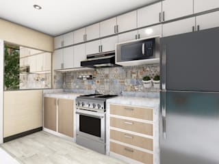 Dapur built in oleh Minkarq. Arquitectura y construcción, Modern