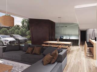 Casa X, Santina Norte. Córdoba: Livings de estilo  por síncresis arquitectos