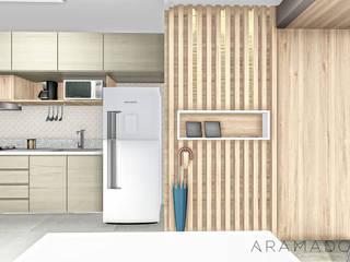 Pasillos y vestíbulos de estilo  de ARAMADO arquitetura+interiores, Minimalista