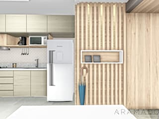 Apartamento UP Corredores, halls e escadas minimalistas por ARAMADO arquitetura+interiores Minimalista