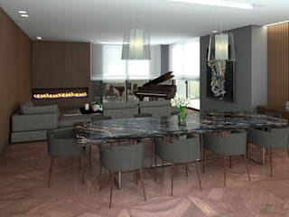 Modern Dining Room by Fi Arquitectos Modern