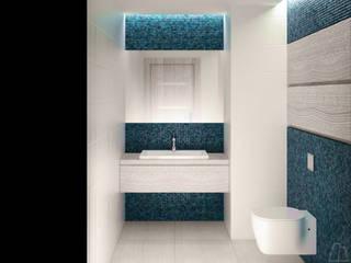 Projekt wnętrza toalety Nowoczesna łazienka od Moskou Architektura Wnętrz Nowoczesny