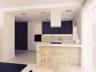 Projekt kuchni: styl , w kategorii Aneks kuchenny zaprojektowany przez Moskou Architektura Wnętrz