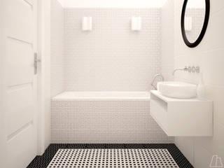 Projekt łazienki Nowoczesna łazienka od Moskou Architektura Wnętrz Nowoczesny