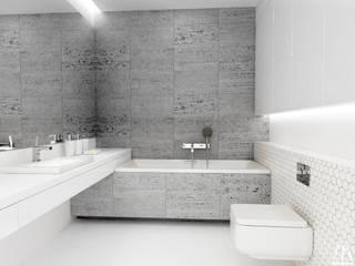 Projekt łazienki Minimalistyczna łazienka od Moskou Architektura Wnętrz Minimalistyczny