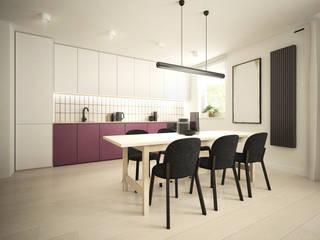 Projekt wnętrz mieszkania 67m2: styl , w kategorii Jadalnia zaprojektowany przez Moskou Architektura Wnętrz
