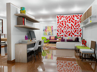 Estudios y oficinas de estilo moderno por Omar Plazas Empresa de  Diseño Interior, Cocinas integrales, Decoración