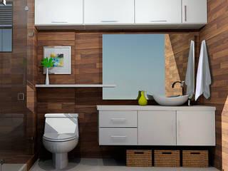 Omar Interior Designer Empresa de Diseño Interior, remodelacion, Cocinas integrales, Decoración 現代浴室設計點子、靈感&圖片 陶器 Brown