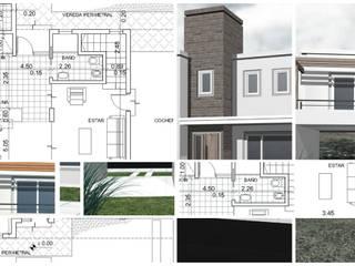 AR.CO Arquitectura_Construcción: Casas unifamiliares de estilo  por AR.CO