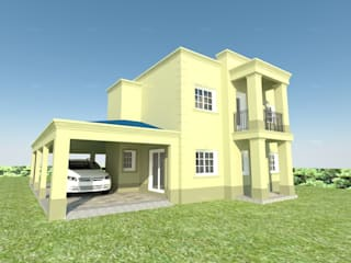 ESPACIO ARQ - Estudio منزل عائلي صغير طوب Yellow