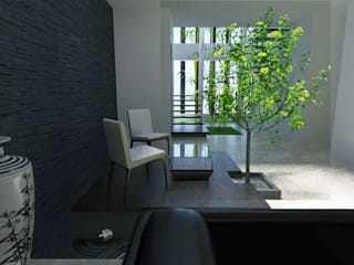 Bungalow for Mr. Shinghi Modern living room by Space Alchemists Modern