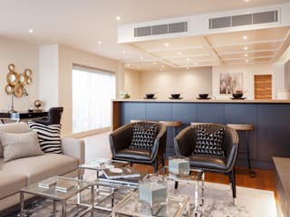 £1.4m Penthouse apartment design by SMB Interior Design Modern living room by SMB Interior Design Ltd Modern
